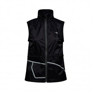 DIADORA GILET L. VEST FEMME | BLACK | Collection Printemps-Été 2019