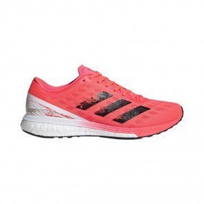 ADIDAS ADIZERO BOSTON 9 Femme - SIGNAL PINK/CORE BLACK/COPPER METALLIC