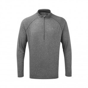 RONHILL Tee-shirt manches longues Zip Everyday | Grey marl