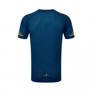 RONHILL Tee-Shirt manches courtes STRIDE Homme | Azurite/Midnight Blue/Acid